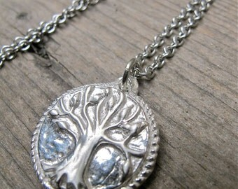 Custom Silver Tree of Life Pendant