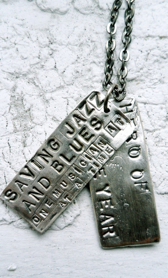 Rustic Rectangle Necklaces (2 Tags)