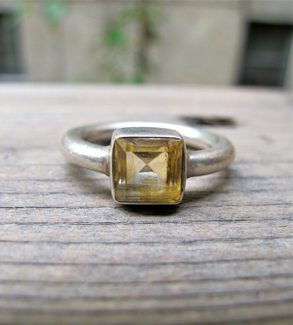 Harvest Moon Citrine Ring