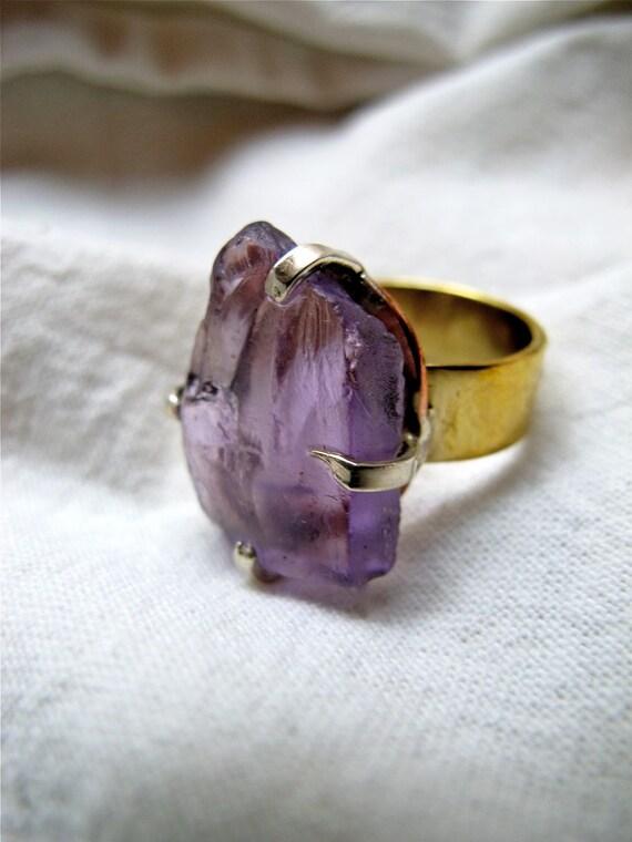 Raw Earth Amethyst Ring