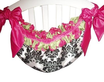 Toy Bag w/top ruffle, Crib Custom made