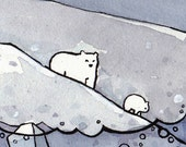 Whale, Icebergs and Polar Bears Print