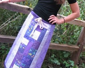 Hippie Patchwork Skirt in Purple