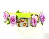 Couture Dog Collar, Rosebud Collection (Lilac/Lavender)