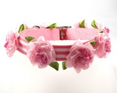 Couture Dog Collar, Rosebud Collection (Pink)