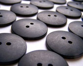 30 Buttons - Assorted Sizes - Matte Black - 2 Hole
