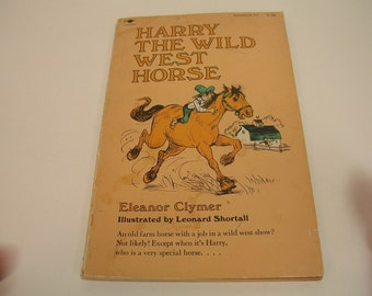 Harry The Wild West Horse Vintage Book