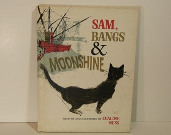Sam, Bangs, & Moonshine Vintage Childrens Book By Evaline Ness