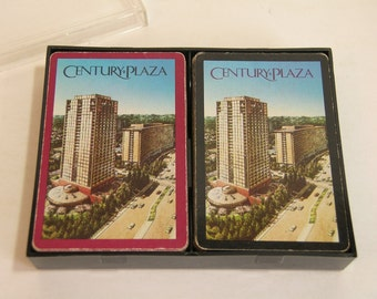 Vintage Century Plaza Playing Cards