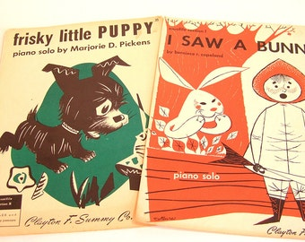 Vintage Childrens Sheet Music