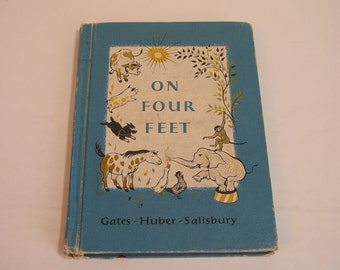 On Four Feet Vintage Childrens Book