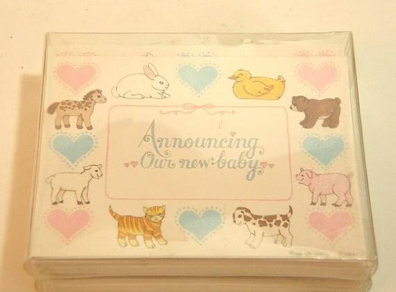 Vintage Birth Announcement Cards