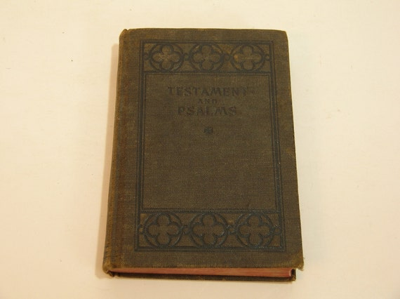 Testament And Psalms Vintage Book 1918