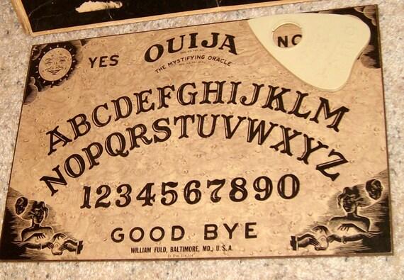 Pre 1960's Ouija Board patent 114534 Mystifying Oracle Talking Board