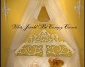 Crib Bed Canopy PRINCESS crown White tiara Crown