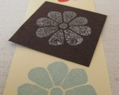 Japanese chrysanthemum stamp - Hand carved rubber stamp