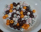 Sports ball beads, assorted