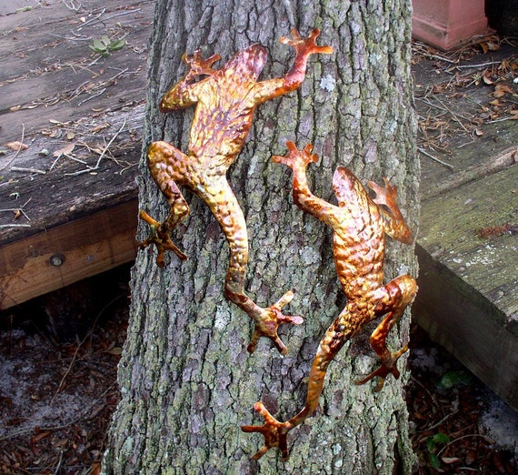 Copper Frogs set of two