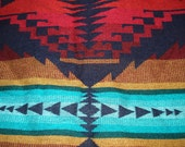 Vintage Native American Inspired Blanket Tribal Throw Mexican Bedspread
