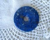 SALE Lapis Lazuli Donut Pendant Focal Bead