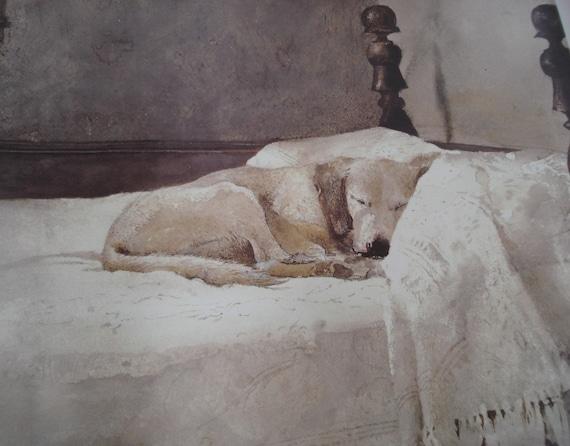 1985 Vintage Andrew Wyeth Master Bedroom Fine Art Poster