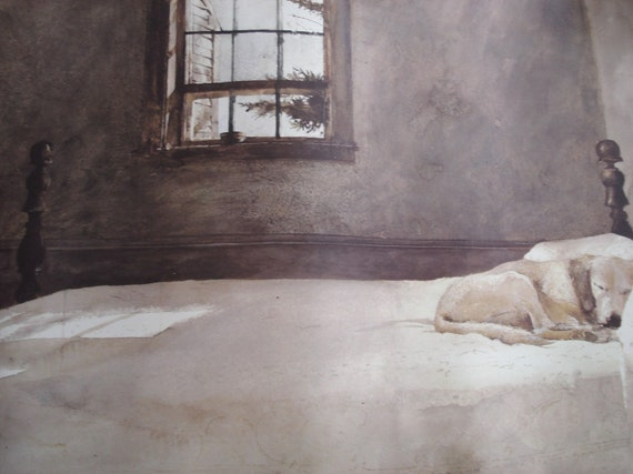 1985 vintage andrew wyeth master bedroom fine art poster 12349 | il 570xn 236794540