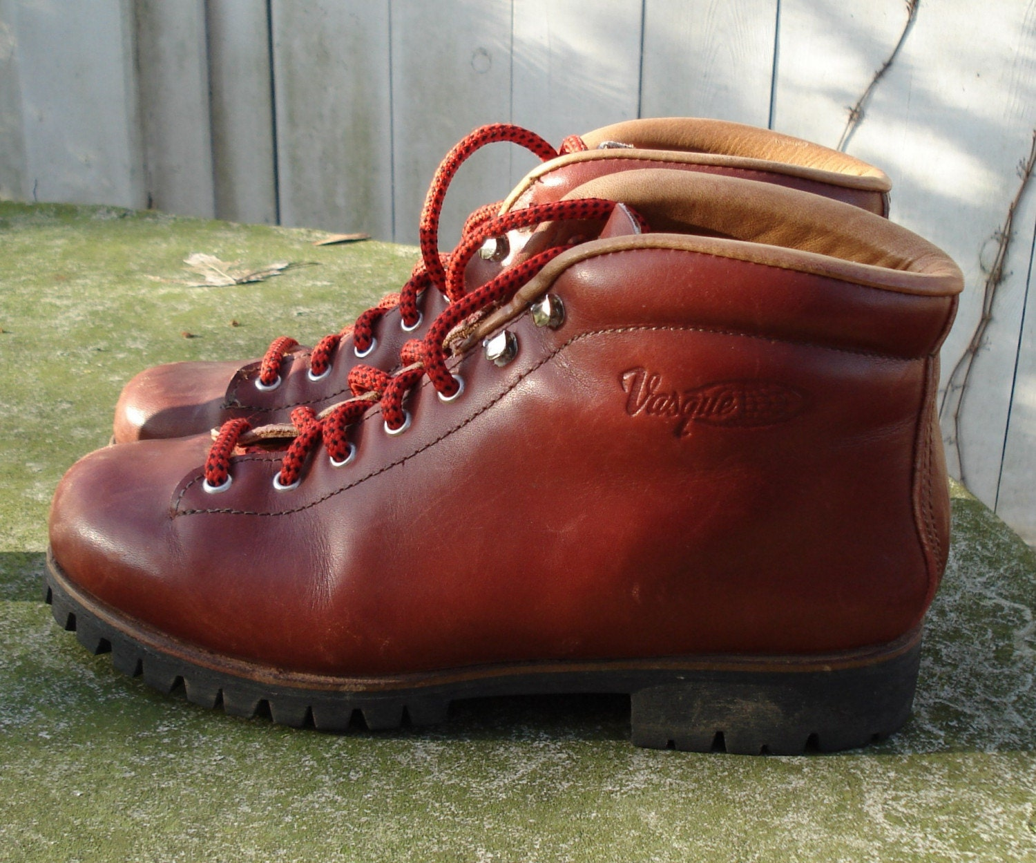 Vintage Vasque Leather Hiking Boots Made In Italy Gorgeous