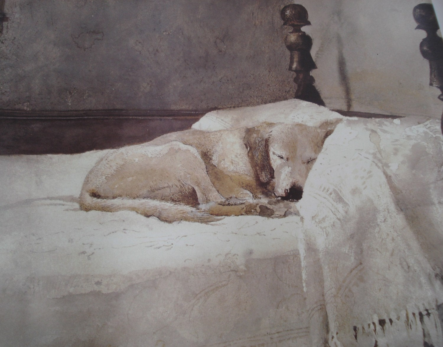 1985 Vintage Andrew Wyeth Master Bedroom Fine Art Poster