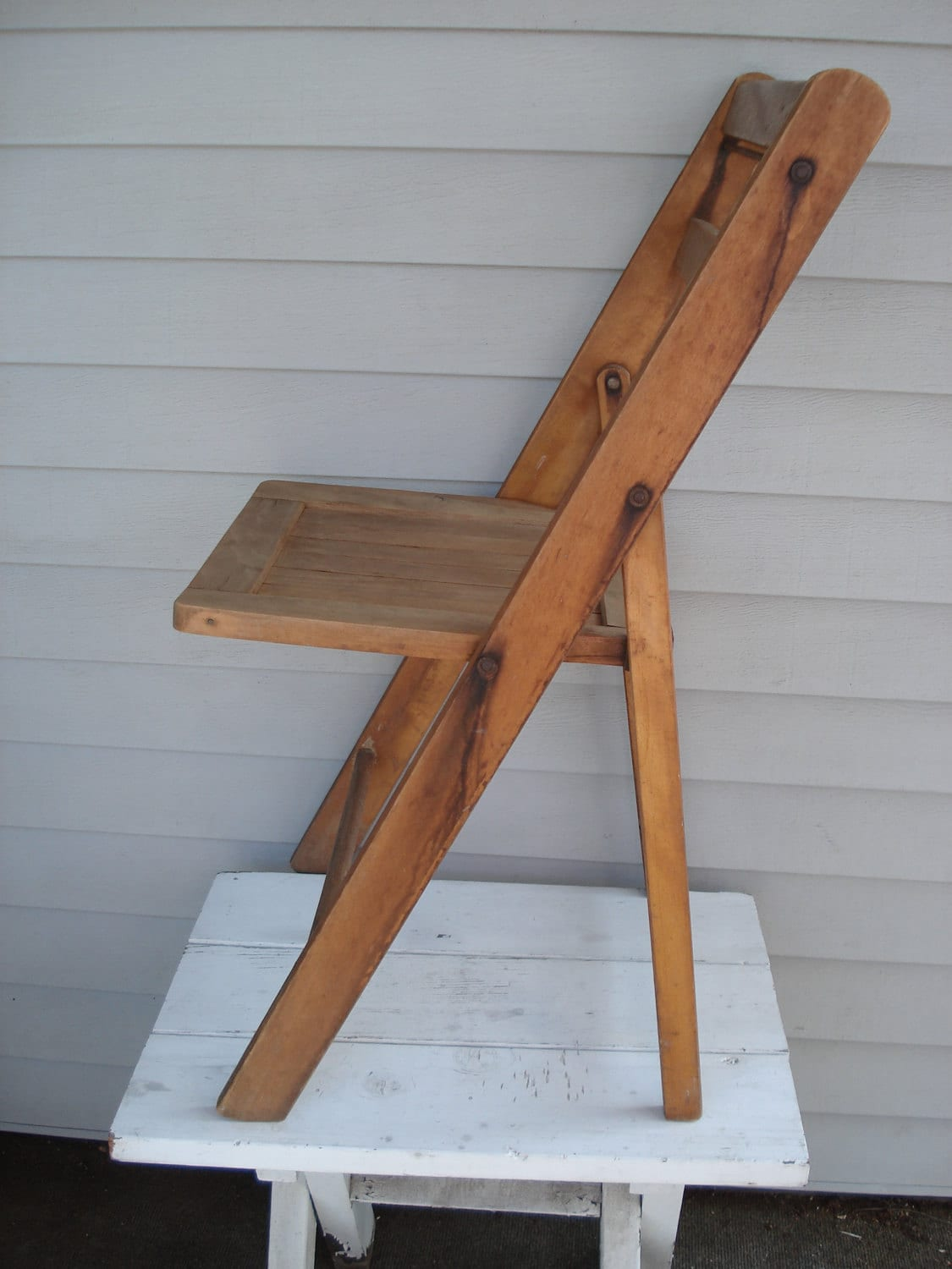 vintage antique wood folding chair mount carmel by