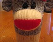 Sock Monkey Coffee Cozy - Blue