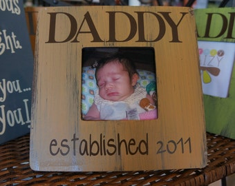 Custom Established DADDY Picture Frame