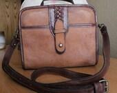 Vintage Brown Leather Cross Body Purse S A L E