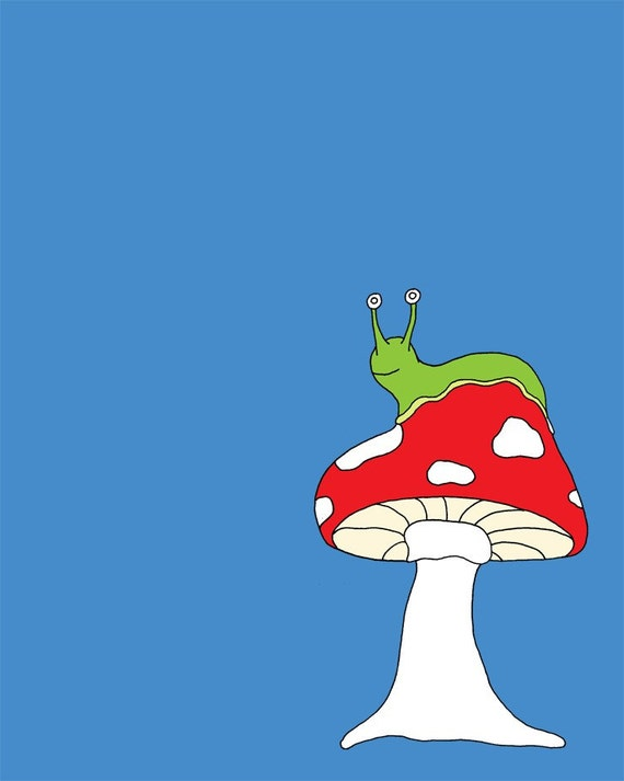 Mushroom Slug (8x10 Fine Art Print) any color possible