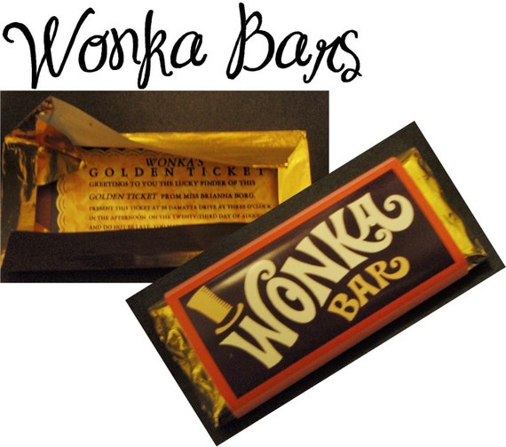Custom Willy Wonka Bar Golden Ticket Party by CustomPartyPlace