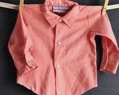 Vintage Baby Pearl Snap Western Shirt Red n White Checks