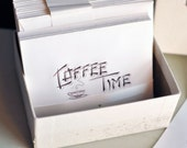 Vintage Coffee Time Party Invitations in Orignal Box
