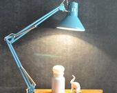 Vintage Modern Swing Arm Drafting Lamp Task Light Work area Lighting in Robins Egg Blue