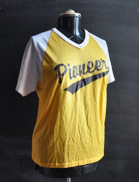Vintage PIONEERS 26 Baseball TShirt Ringer 80s Sport Jersey
