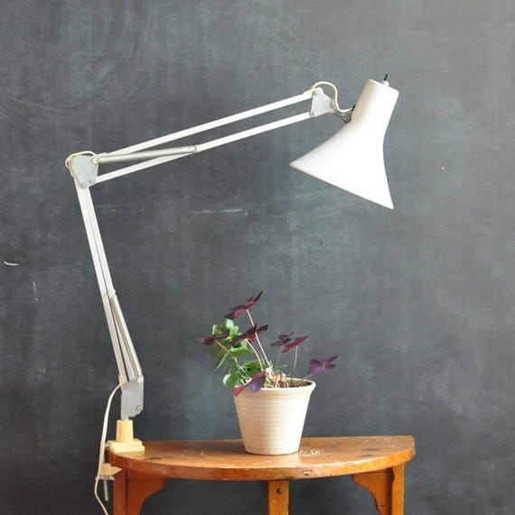 Workbench Lights Vintage: Vintage Modern Swing Arm Drafting Lamp Work Area By