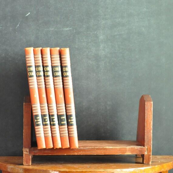 Vintage Book Shelf  Handmade Wooden