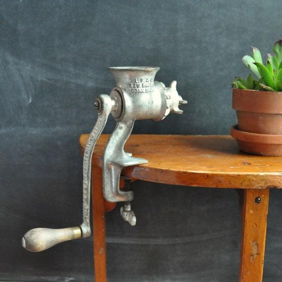 Vintage Cast Iron Grinder Food Processor for the Aftermath