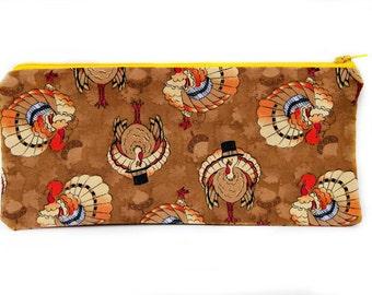 Top Hat Turkey - Large zip pouch