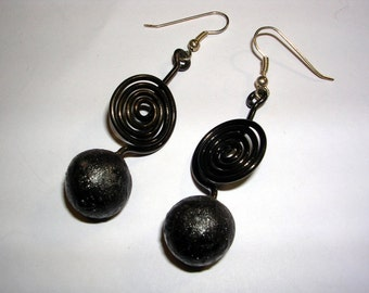 Handcrafted Polymer Clay and Steel Earrings