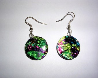 Polymer Clay and Foil Earrings