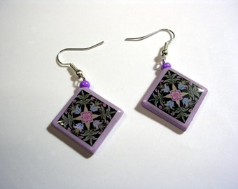 Polymer Clay and Image Earrings