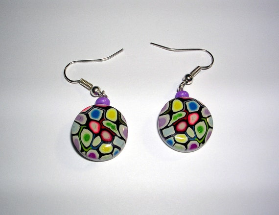 Colorful Polymer Clay Earrings