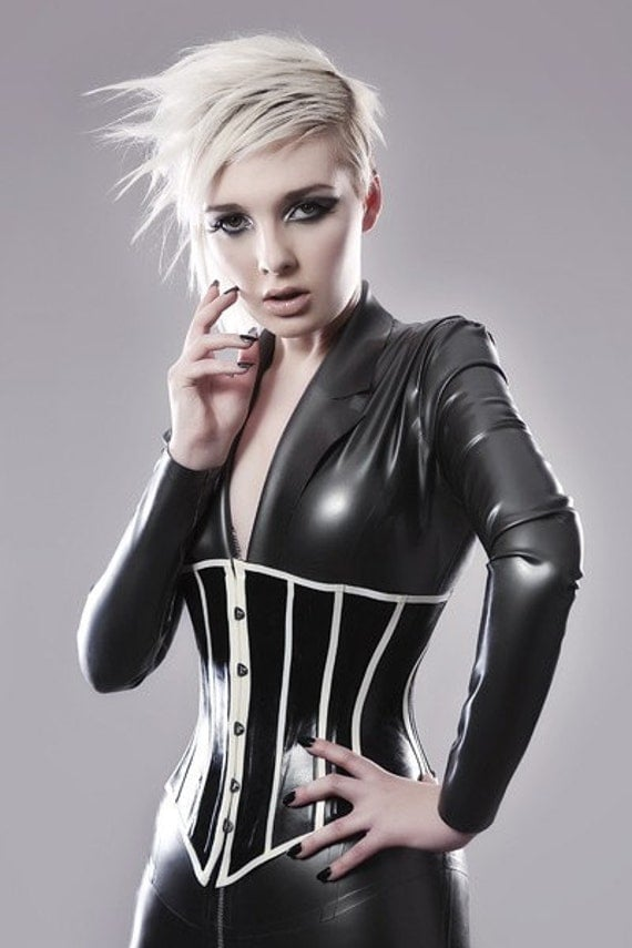 UNDERBUST LATEX CORSET made to order by OohLaLatex on Etsy