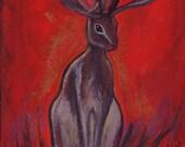 Beware -  Jackalope Postcard