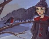 Robins - Postcard