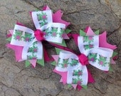 M2MG Bright Tulip Hair Bows